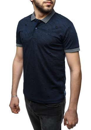 Madmext Navy Blue Polo Shirt 2347