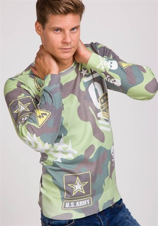 Madmext camouflage Sweater 1650