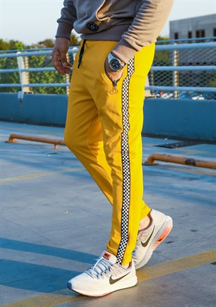 Madmext Slim Fit Yellow Joggers 2701