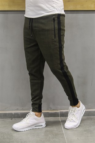 Mens Sweatpant In Plain Design Khaki Color 2705