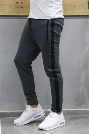 Mens Sweatpant In Striped Design Smoked Color2706