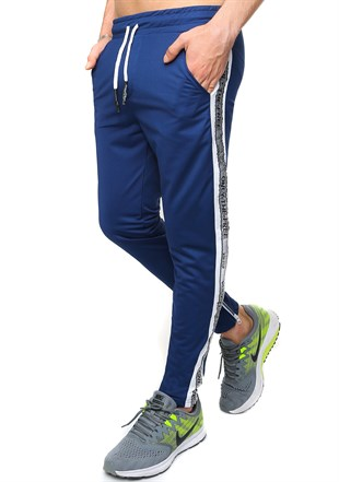 Madmext Striped Blue Jogger 2421