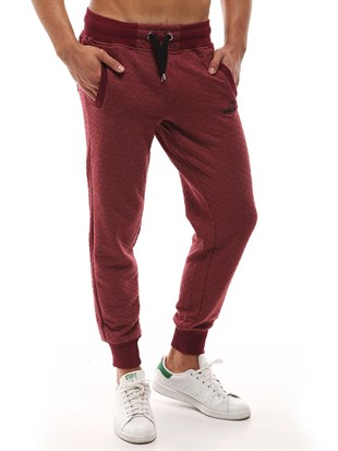 Mens Sweatpant In Burgundy Color 1138