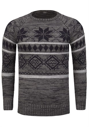 Madmext  Patterned  Smoked Jumper 1552