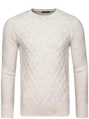 Madmext White Jumper 1555