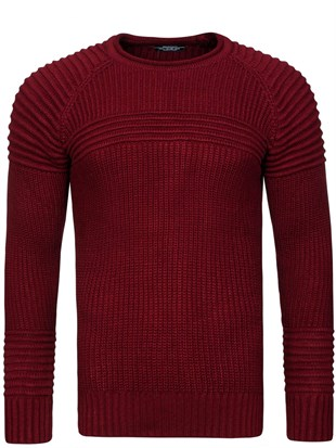 Madmext Burgundy Jumper 1561