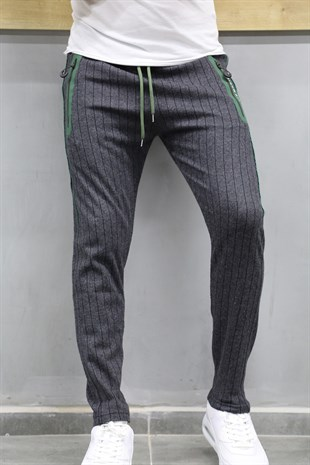 Mens Sweatpant In Striped Design Smoked Color TR 68