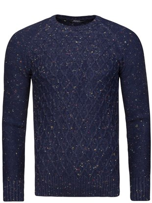Madmext Navy Blue Jumper 1555