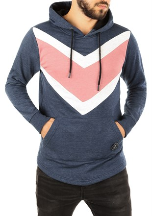 Hooded Sweatshirt Navy Blue 2824