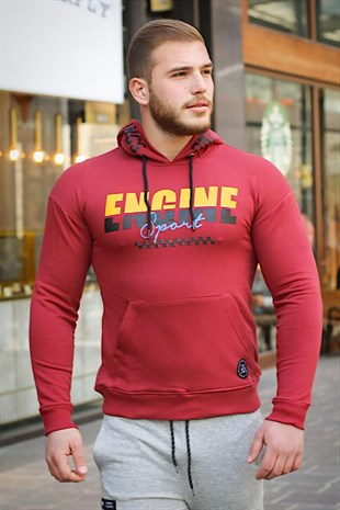 Madmext Bordo Kapşonlu Sweatshirt 2663