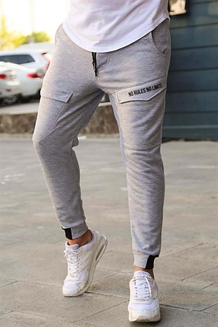 Mens Sweatpants In Pocket Details Grey Color 2934