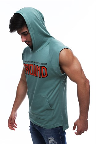 Sleeveless T-Shirt In Hooded Mint 2859