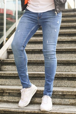 Madmext Slim Fit Likralı Jean Mad006-3