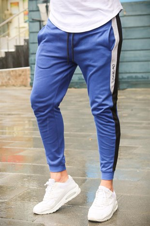 Mens Sweatpants In Striped Design Saks Color