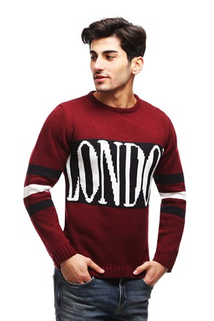 TC5664 Bordo Kazak - London Desenli