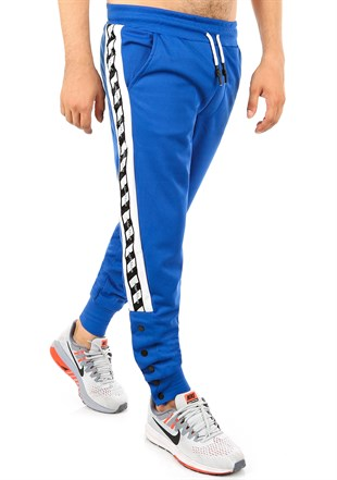 Mens Sweatpant In Striped Design Blue Color2708