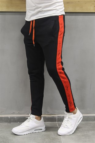 Mens Sweatpant In Striped Design Dark Blue Color 2720